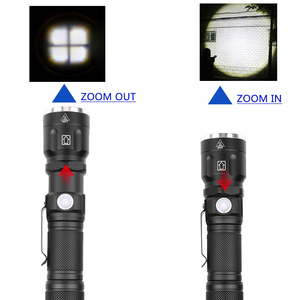 Image 5 - Flash Light Torch Led Flashlight 1* 18650 Or 26650 Rechargeable Battery Xhp70 Shock Resistant,hard Defense Bulbs Zoom In