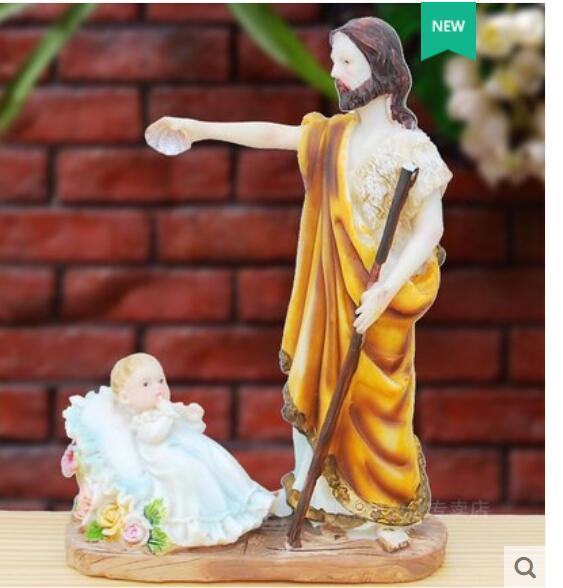 Jésus-Christ a enseigné à présenter la statue de la croix avec ornement catholique présenter la sainte bible avec décoration domestique - 2