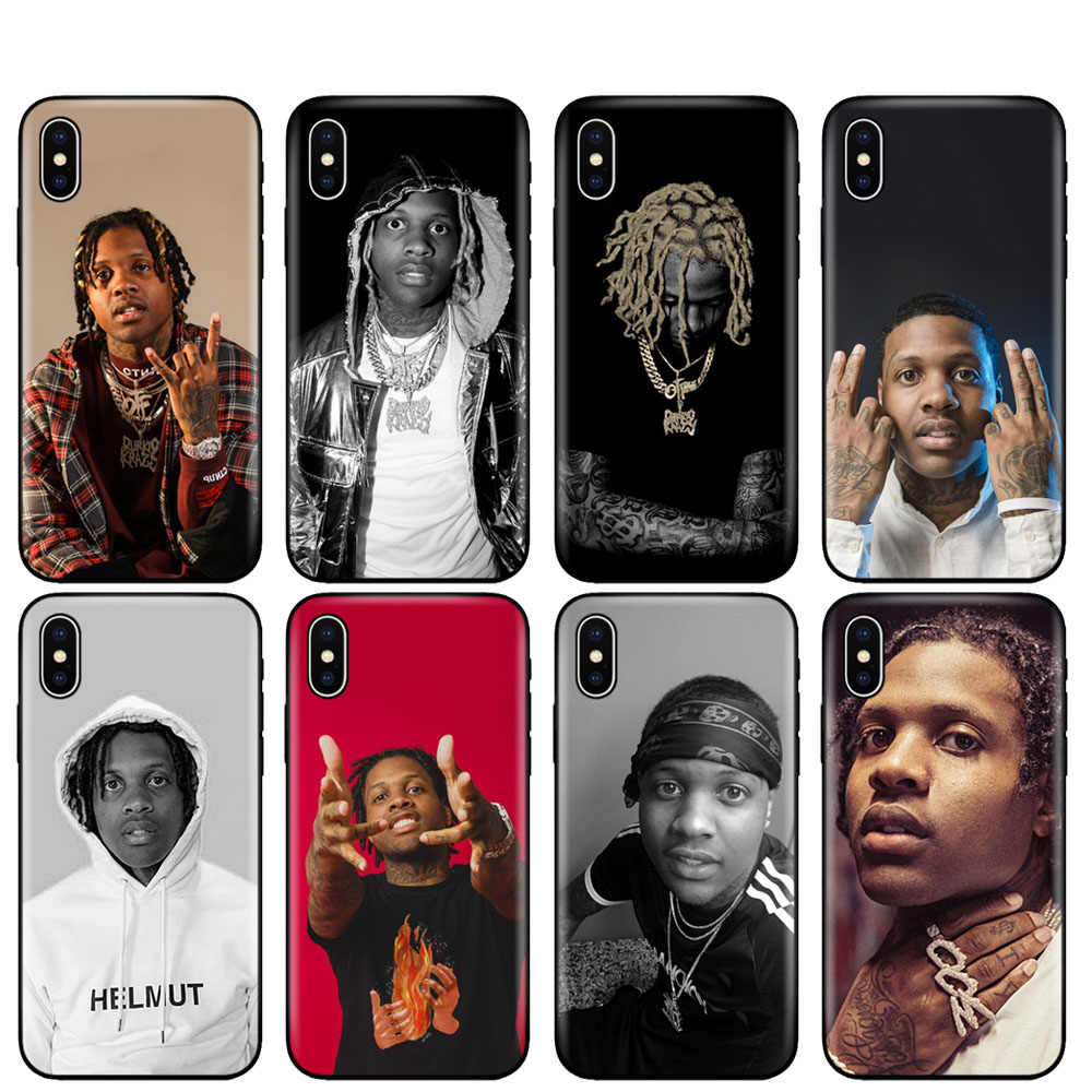 Zwart tpu case voor iphone 5 5s se 6 6s 7 8 plus x 10 silicon cover voor iphone XR XS 11 pro MAX case lil Durk