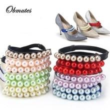 50 Pair Women Pearl Bands Shoelace Belts, Princess Shoe Accessory Decoration Straps for Sandal , Shoes Lace for Loose Shoes