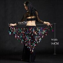 Waist-Belt Hip-Scarf Dance-Accessories Belly-Dance-Scarf Sequins Sexy Women Big Girls