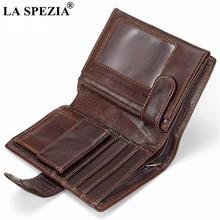 LA SPEZIA First Layer Genuine Leather Men Wallet Coin Pocket