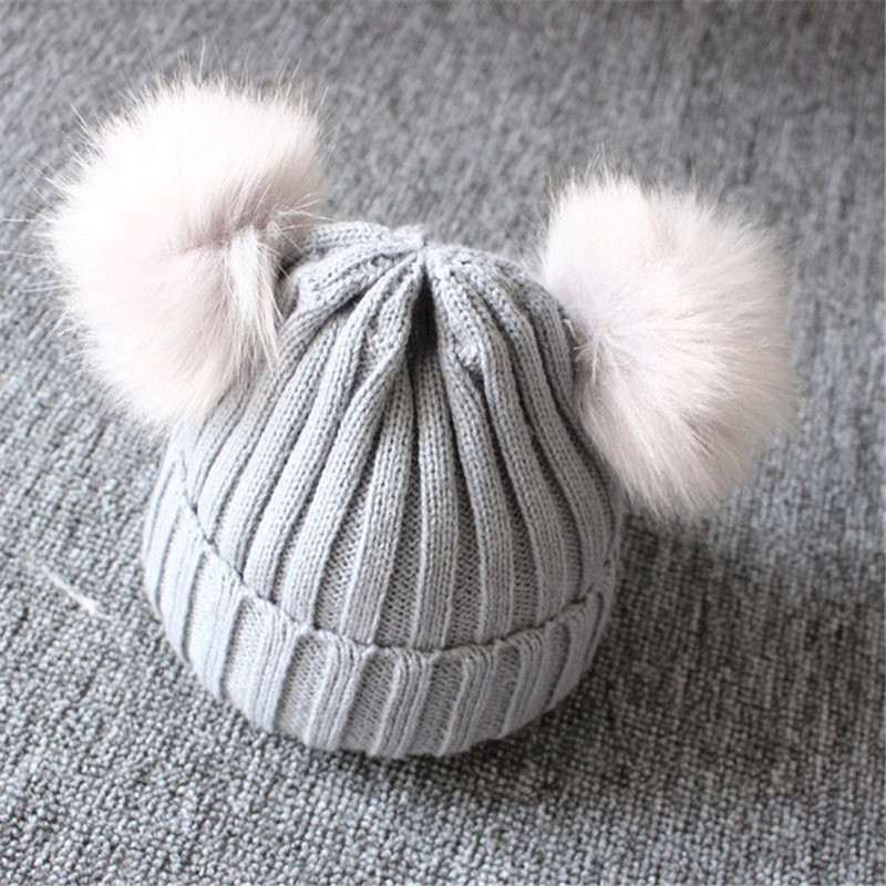 Winter-Warm-Baby-Hat-Double-Furry-Ball-Pompom-Children-s-Cap-Solid-Knit-Cap-For-Girls.jpg_640x640 (2)