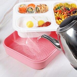 Image 5 - Szczelne pudełko na lunch oddzielne przedziały, w których można szkolne dla dzieci pojemnik bento pojemnik na jedzenie stołowe naczynia mikrofalowe pudełko na lunch dla dzieci