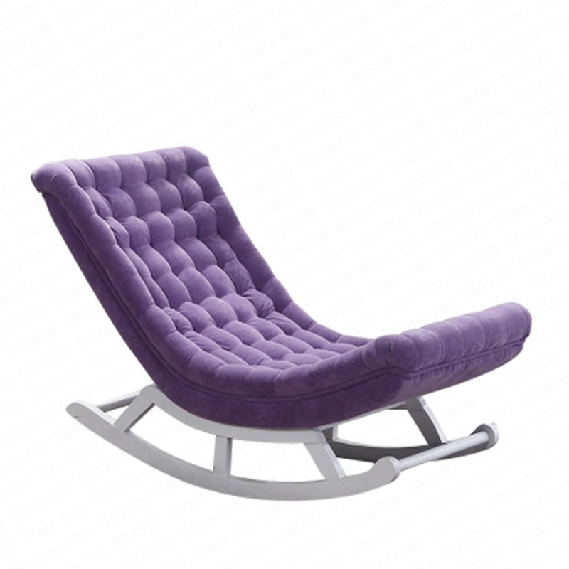 Nordic Simple Rocking Chair Recliner Pregnant Women Old Chair Lazy Couch Single Balcony Nap Easy Chair Rocking Chair Dotomy