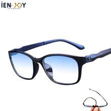 Ienjoy óculos de leitura homem azul luz bloqueando óculos tr90 óculos de computador óculos de leitura feminino óculos + 1.5 + 2.0
