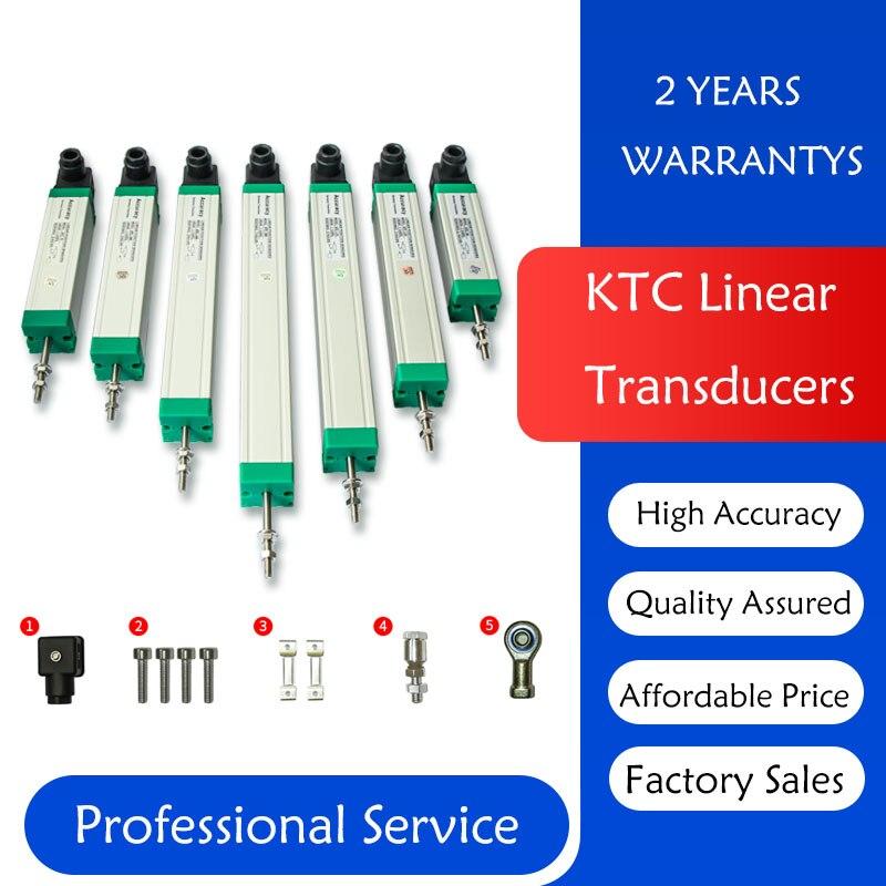 Máquina eletrônica da injeção do potenciômetro da posição da régua da tração da haste do sensor da escala linear do deslocamento do transdutor de ktc 275-450mm