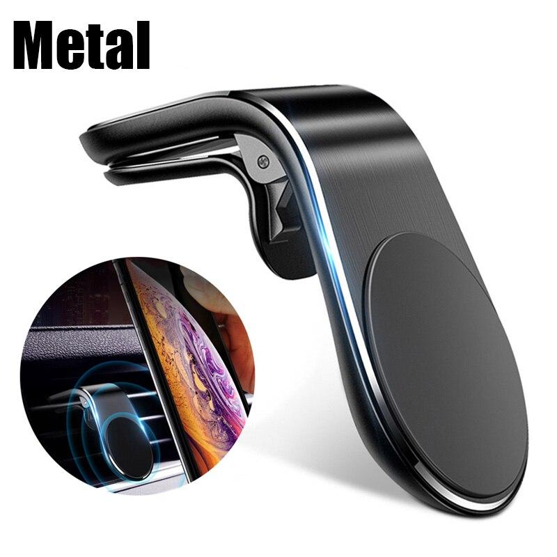 מגנטי L-סוג טלפון במכונית Smartphone Stand קליפ עבור הר מגנטי מכונית טלפון בעל חליפת לכל דגם נייד
