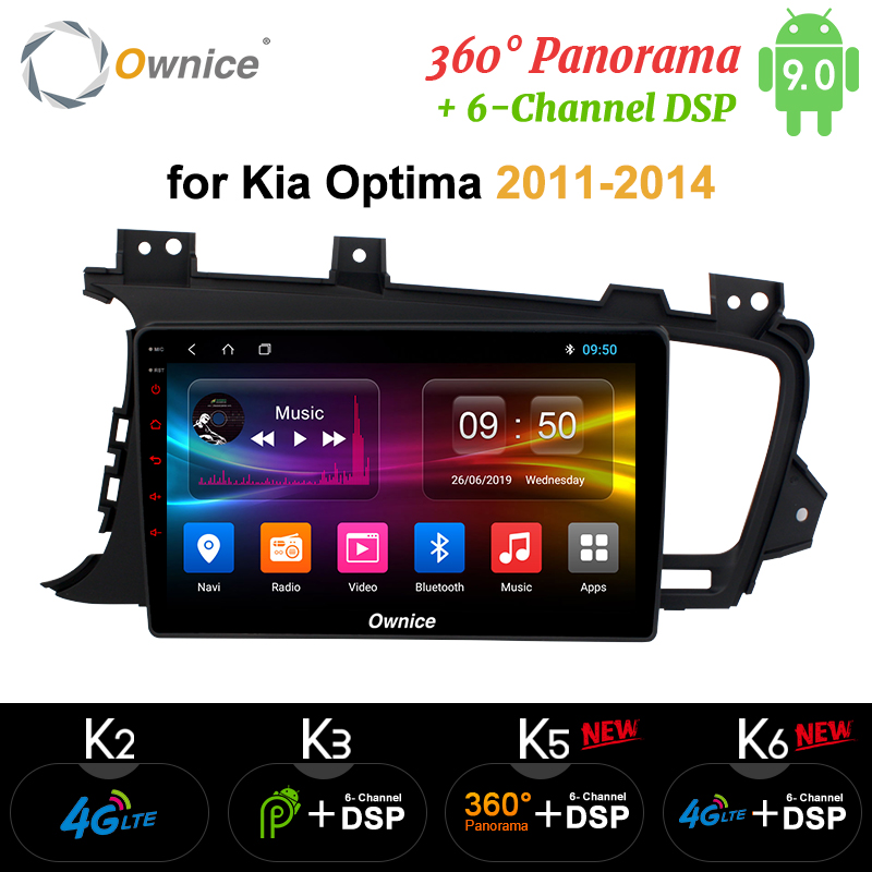 Ownice Octa Core Android 9.0 K3 K5 K6 Car DVD Player for Kia K5 Optima 2011 - 2015 4G DSP GPS Radio Stereo 360 Panorama Optical image