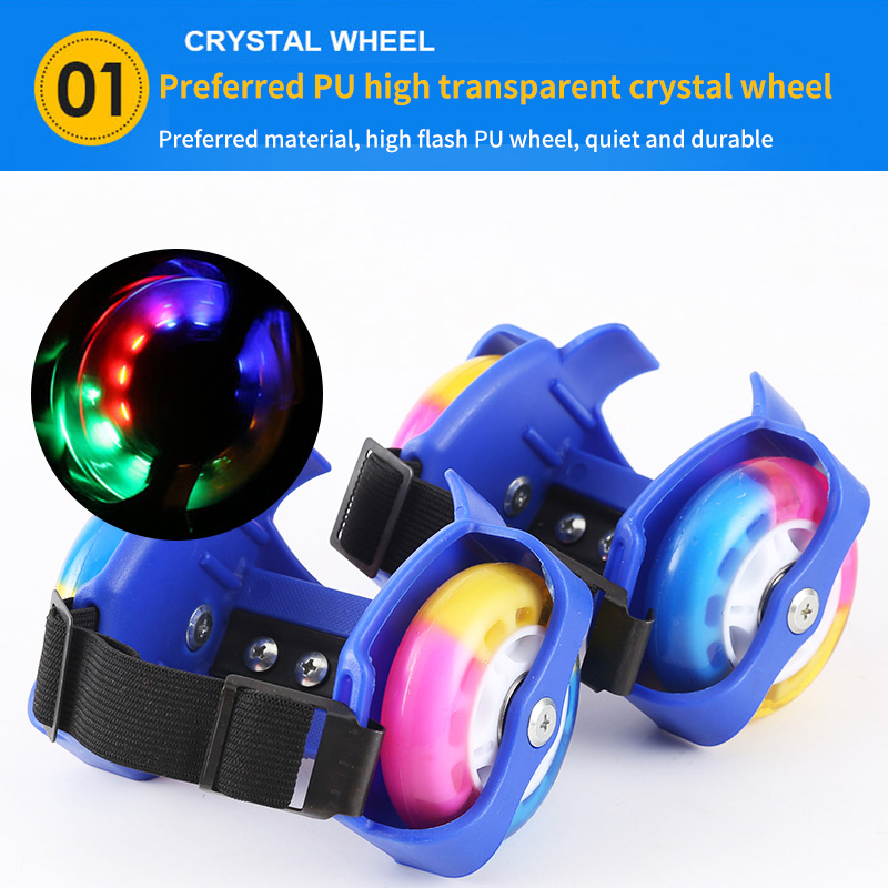 Heel Roller Skating Shoes Hot Wheels Sports Colorful LED Flashing Small Whirlwind Pulley Park Adjustable Flashing Roller Shoes