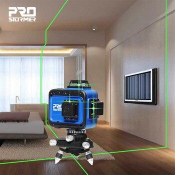 Green 12 Line Laser Level