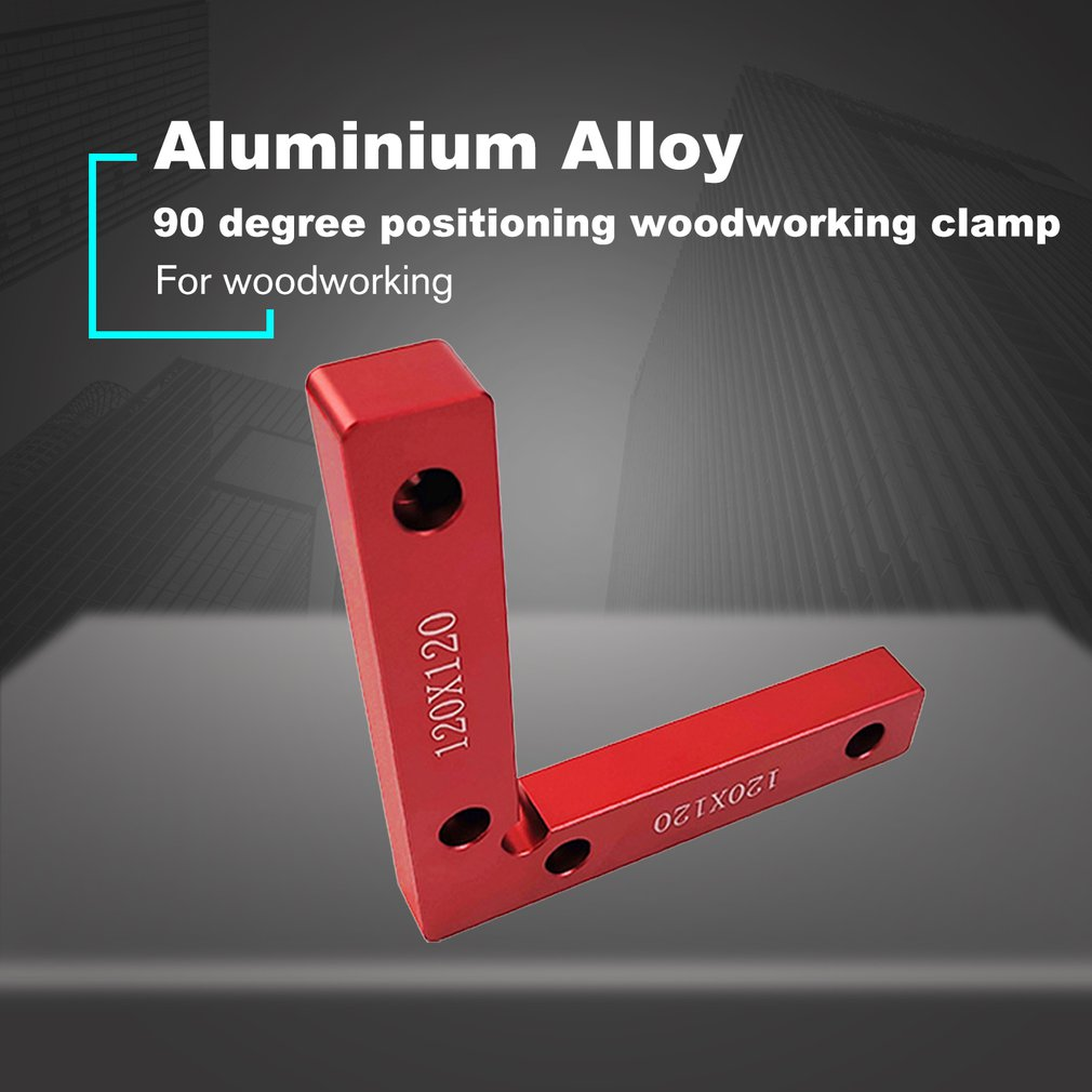 90 Degree Positioning Squares Aluminium Alloy Right Angle Clamps Woodworking Carpenter Tool L-shaped Block Square