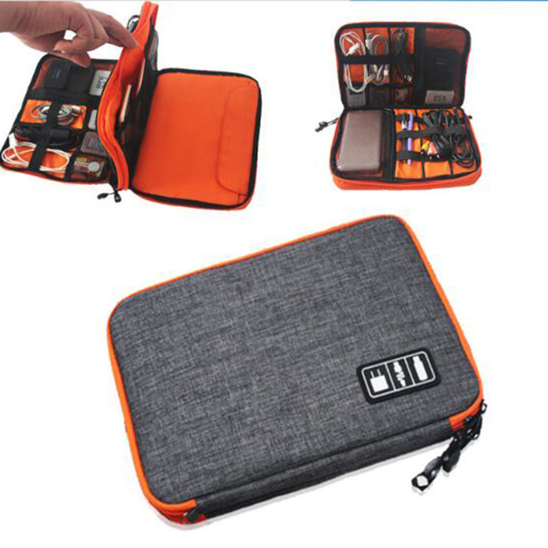 Fashion Portable Travel USB Charger Power Bank Holder Cable Case Electronic Accessories Organizer Digital Storage Bag