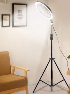 LEDGLE Ring-Light Lampara Standing Floor-Lamp Phone Dimmable High-Tripod Living-Room