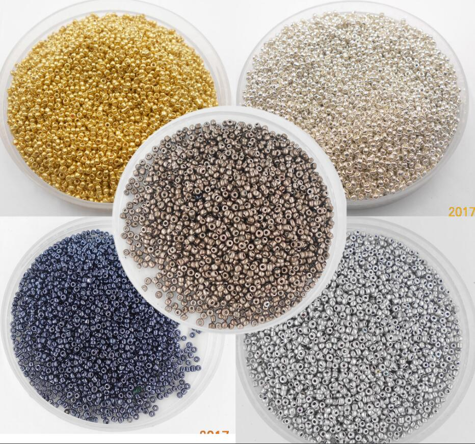 Super Small 2mm Czech Glass Seed Spacer Beads 1000pcs/lot Gun Black Color Austria Crystal Round Hole Bead For DIY Jewelry Makin(China)