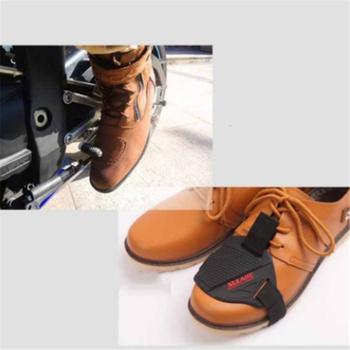 Czarne buty motocyklowe motocyklowe ochraniacze na buty męskie buty na buty ochraniacze na osłony Shifter tanie i dobre opinie CN (pochodzenie) Elastan i nylonu ANKLE Oddychające Unisex