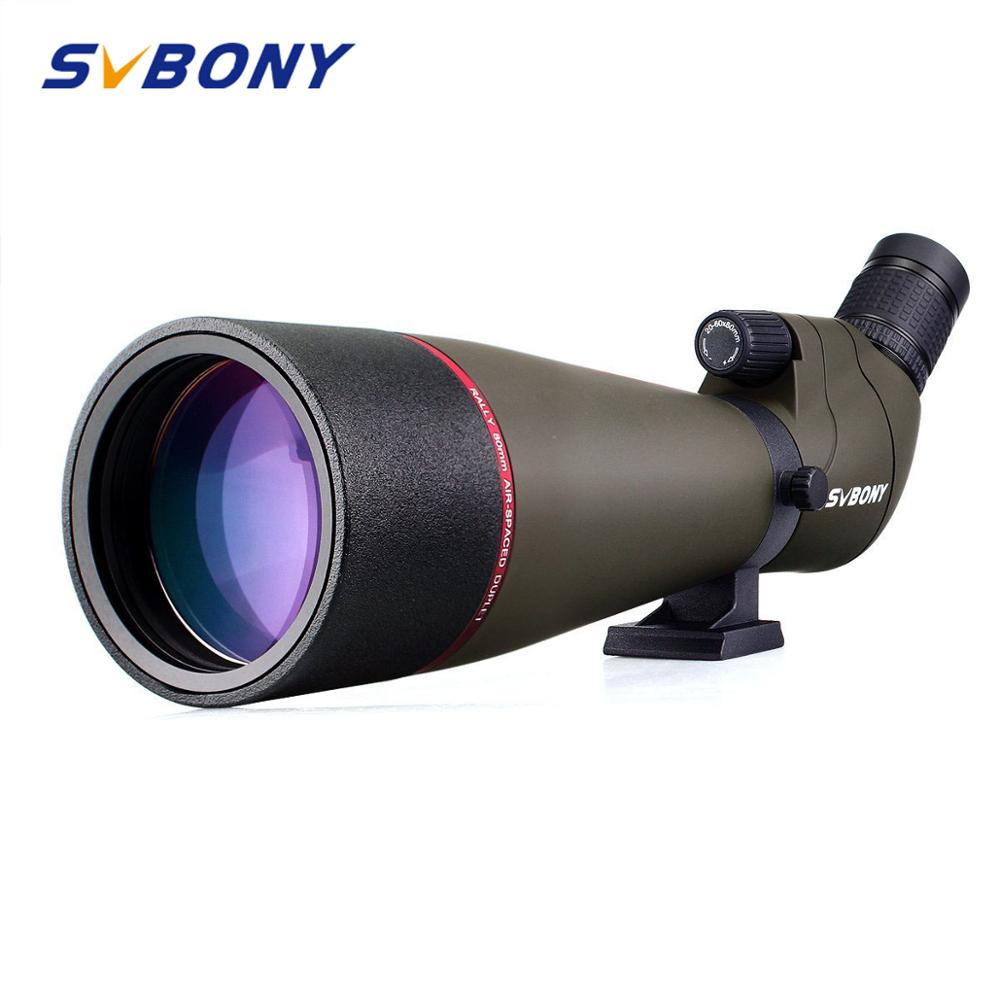 Svbony Spotting Scope Zoom 20-60x80mm Refractor Telescope 45-Degree Large Field Of View MC Lens High Definition Powerful F9314AB