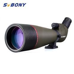 Svbony telescopio terrestre Zoom 20-60x80mm Refractor telescopio 45 grados gran campo de visión MC lente de Alta Definición potente F9314AB para caza, tiro, tiro con arco, observación de aves