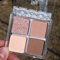 Палитра теней для век 4 цвета Тени для век Палитра Блеск матовое стекло с перламутровым эффектом тени для век макияж прочного косметический ...