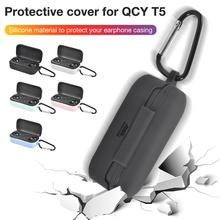 New Clamshell Opening Anti Shock Flexible Silicone Full Protective Cover Case Buds Sports Bluetooth Earphone For QCY T5 #L4 on AliExpress