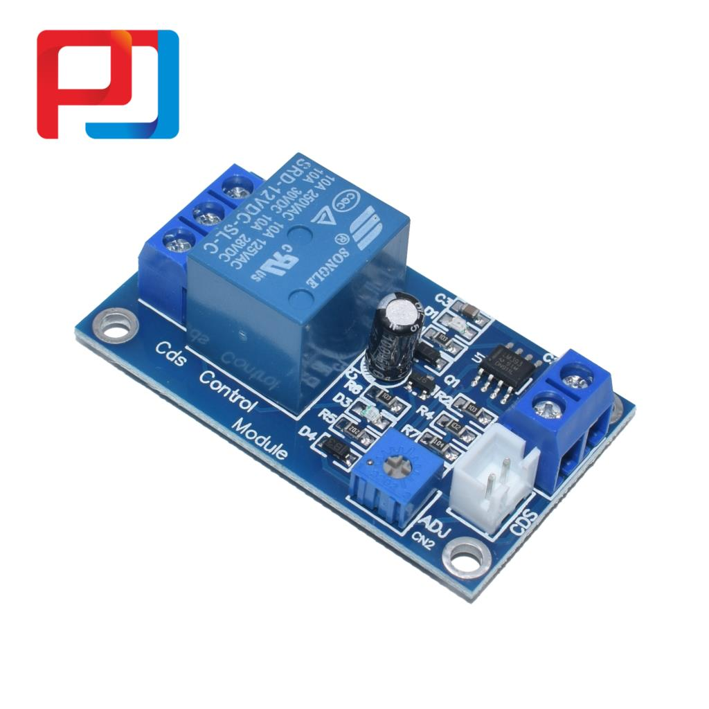 Image 4 - XH M131 DC 5V/12V Light Control Switch Photoresistor Relay Module Detection Sensor 10A brightness Automatic Control Module 10PCSConnectors   -