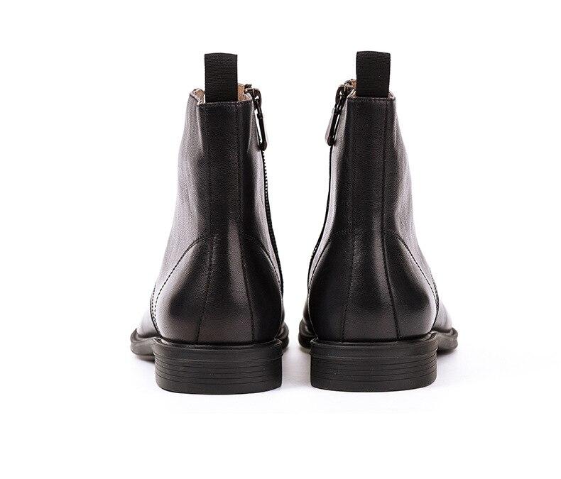 Мужские ботинки из натуральной коровьей кожи; цвет коричневый, черный; модные повседневные кожаные рабочие ботинки Martin; мужские уличные кро... - 5