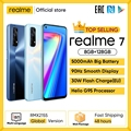 Realme 7 Globale Version Handys Entsperrt 30W Schnelle Lade Smartphone 8GB RAM 128GB ROM Handys helio G95 Gaming Telefon
