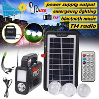 4500mAh Solar Generator Portable Outdoor Solar Power Panel LED Lighting System with Bluetooth Radio FM speaker Usb TF card port