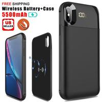 For iPhone X/XR/XS/XS Max Intelligence Wireless Charging Battery Case Power Bank Charger Case Portable Mobile phone Cover