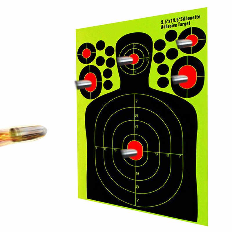 10pc Self Adhesive Reactivity Shoot Target Aim Hunting Training Target Sticker