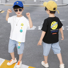 2020 New Summer Boys Clothing Sets Children T-shirt Short Sleeve +Pants Set Two Pieces Set Kids Baby Boys Clothes 2-8 Years Old цена 2017