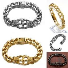Granny Chic Fashion Stainless Steel Bracelet Chain 2019 Party Gift Men Biker Jewelry Rock Punk