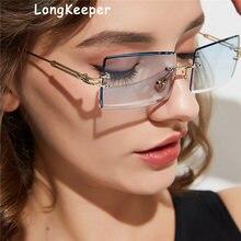 Солнцезащитные очки без оправы женские и мужские роскошные с