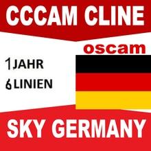 1 год Европа Oscam cline/Германия Cccam cline Испания для Европы DVB-S2 спутниковый gtmedia v8 nova freesat v8