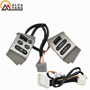 Image 3 - NEW Car accessories steering wheel control buttons with backlight Buttons Connecting wire FOR Nissan LIVINA TIIDA SYLPHY