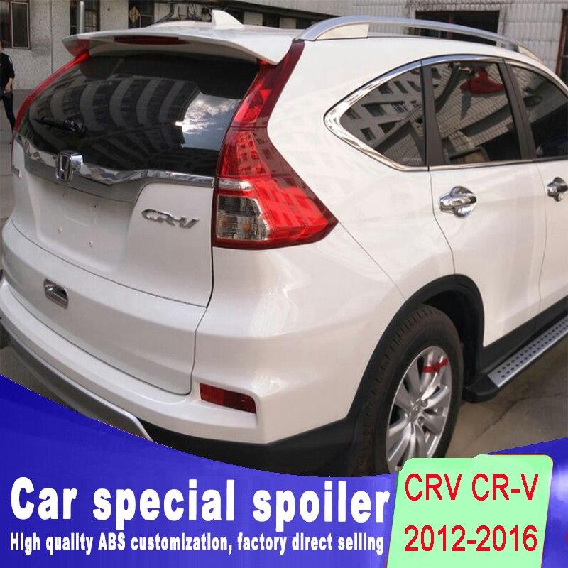 Новый дизайн Спойлер для Honda CRV CR V прочная Лента стабильный ABS спойлер Крылья заднего окна Грунтовка краска или черный белый цвет