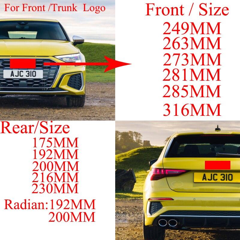 4 кольца ABS серебристый черный Автомобильный капот Передняя крышка гриль задний багажник эмблема логотип значок наклейка для A3 A4 A5 A6 A7 Q2 Q3 Q5 Q8...
