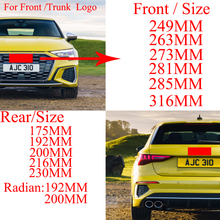 Emblem Logo Glänzend Schwarz für A3 A4 A4L A6L TT Q3 Q5 Q7 A5 A7 RS3 RS4 RS5 RS6 Vorne mitte Ringe Grille Badge Trunk Aufkleber cheap CN (Herkunft) Audi Emblems