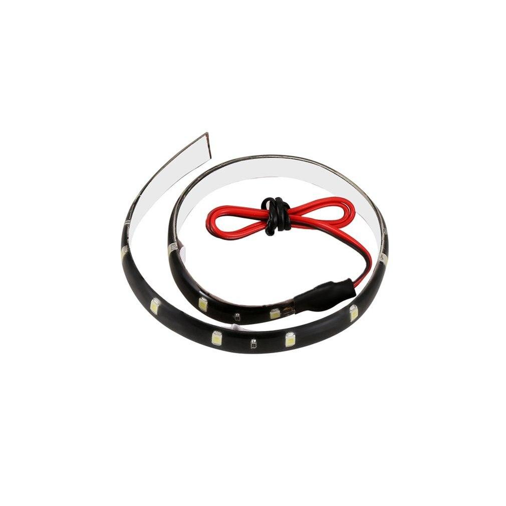 1 единица 30 см Гибкие декоративные светодиодные Автомобильные фары светодиодные полосы света дневные ходовые огни Cob 12V 15 Высокая мощность л...