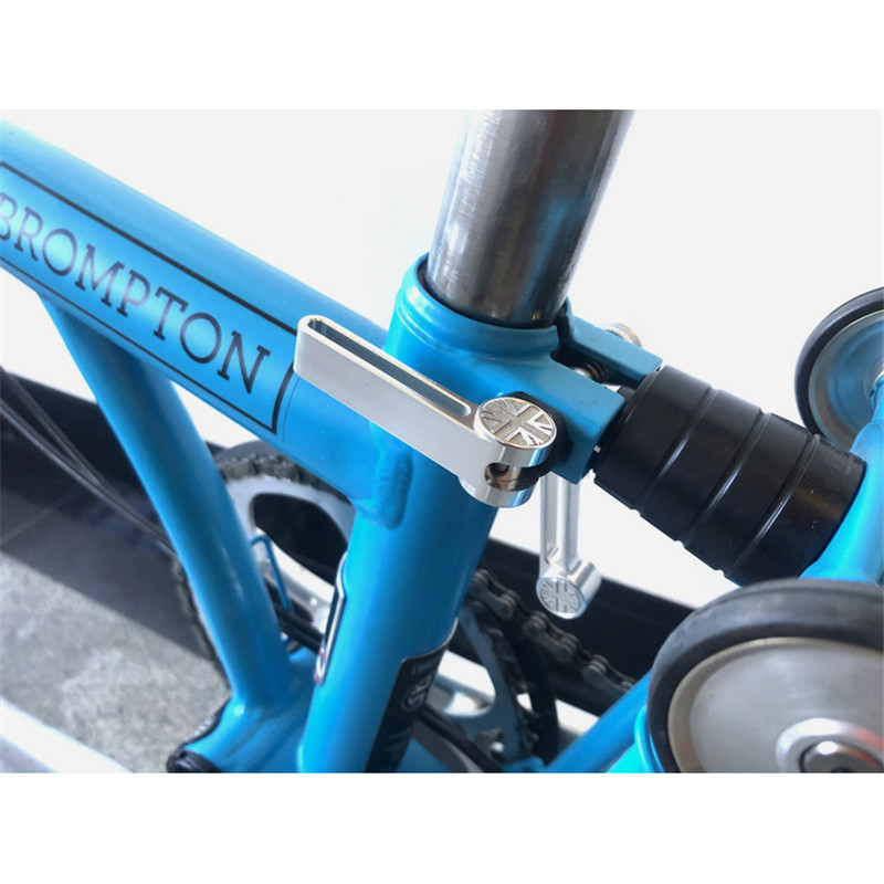3 Colors Folding Bicycle Aluminum Seatpost Clip Hook For Brompton Bike BMX Seatpost Clamp Lightweight
