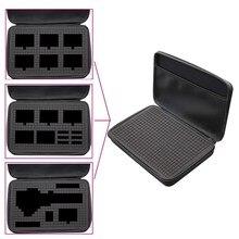Portable case DIY Inner EVA camera Storage box bag  for dji osmo action camera / osmo pocket / zhiyun smooth gimbal cakmera