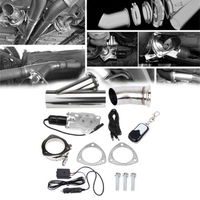 3 Remote Control Stainless Steel Exhaust Valve Muffler Cut Out Header Pipe Electric Valve Exhaust Cutout Kit