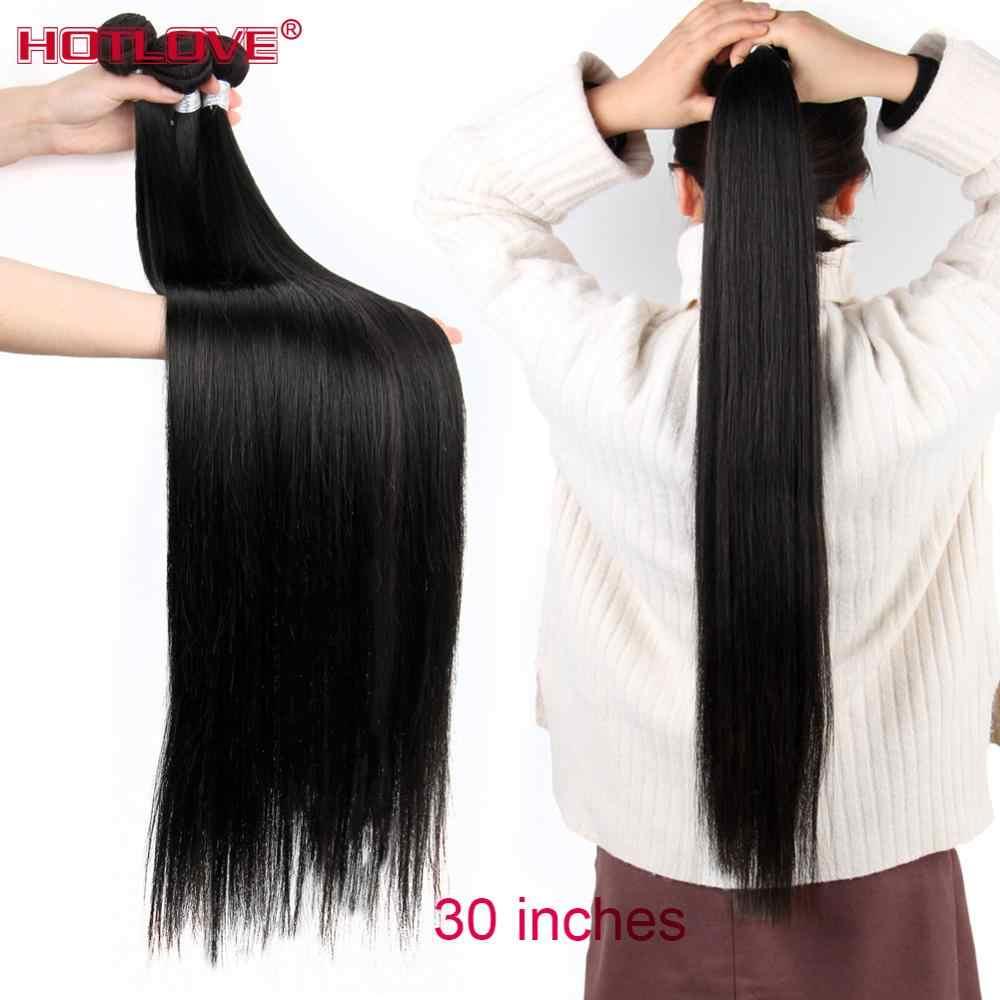 """Brazylijski proste włosy 8-40 """"mieszane długie włosy 100% ludzkie włosy splot wiązki 1/3/4 wiązki naturalny kolor doczepy z włosów typu remy"""