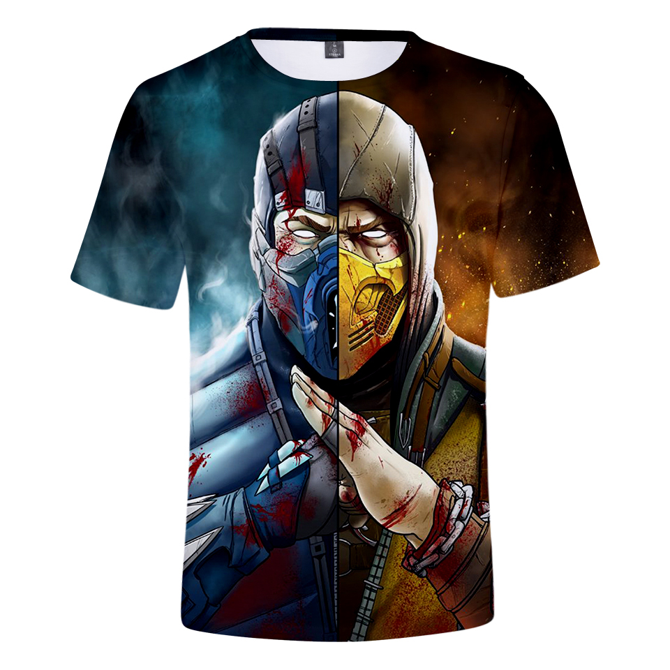 Aikooki Mortal Kombat 11 Men's T-shirt 3D Women's Summer Game Breathable Harajuku T-shirt High Quality Sexy Street TopT-shirt5XL