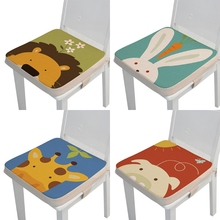 Portable 40x40x5cm Child Toddler Cartoon Animal High Chair Seat Booster Baby Infant Increasing Cushion Thick Pad for Dining J60B