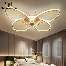 Modern Minimalist Led Ceiling Lights Butterfly Iron Ceiling Light Bedroom Living Room Ceiling Light Lustre House Light Lustre