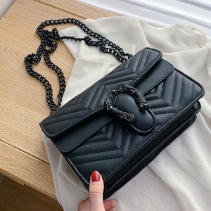 Image 5 - Bolso de marca de moda de color caramelo para Mujer, bandolera de cuero de PU suave de diseñador con cadena, Bolso de hombro tipo bandolera, Bolso de mano para Mujer