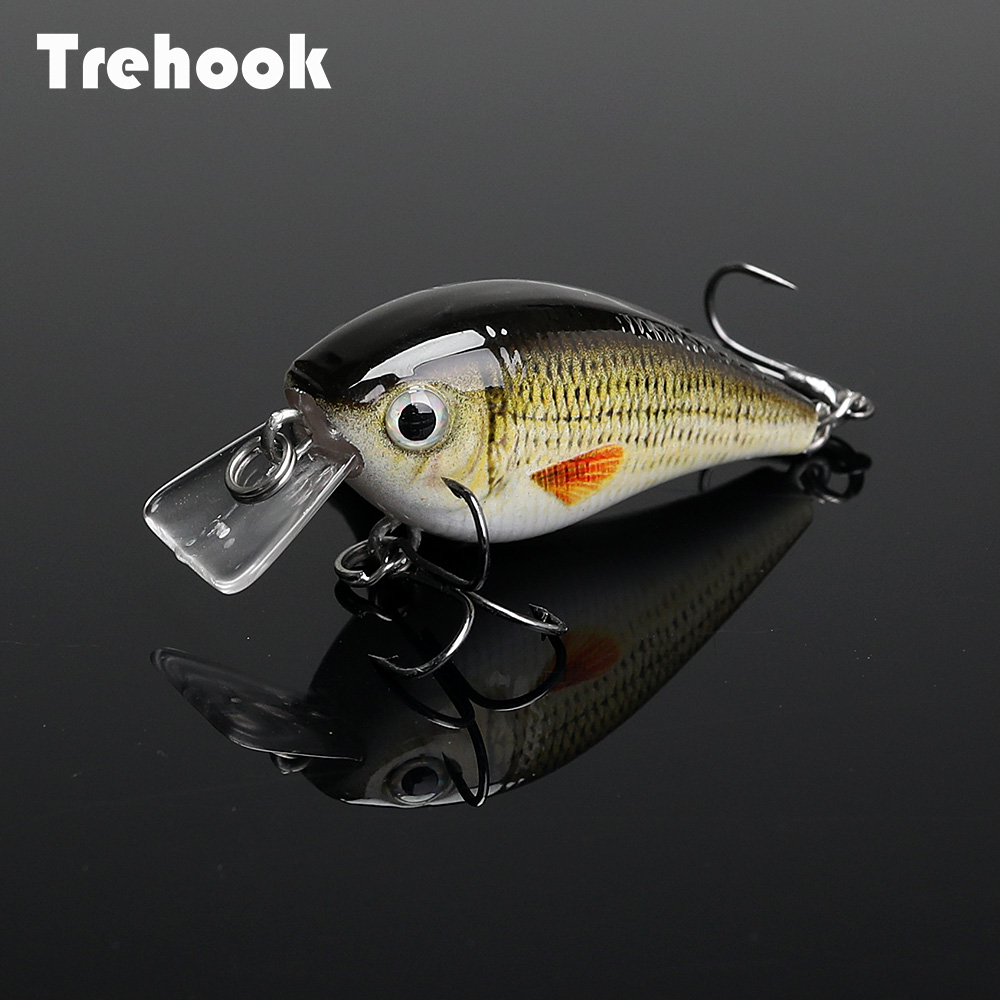 TREHOOK 4.5cm 6g Mini Minnow Wobblers Crank Fishing Lure Artificial Minnow Jerkbait Floating Hrad Lure For Trout Fishing Bait 01