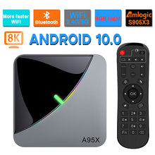 Top-Tv-Box Air-Rgb-Light Wifi 8K Youtube Android 10.0 A95X Amlogic S905x3 2GB 4GB 16GB