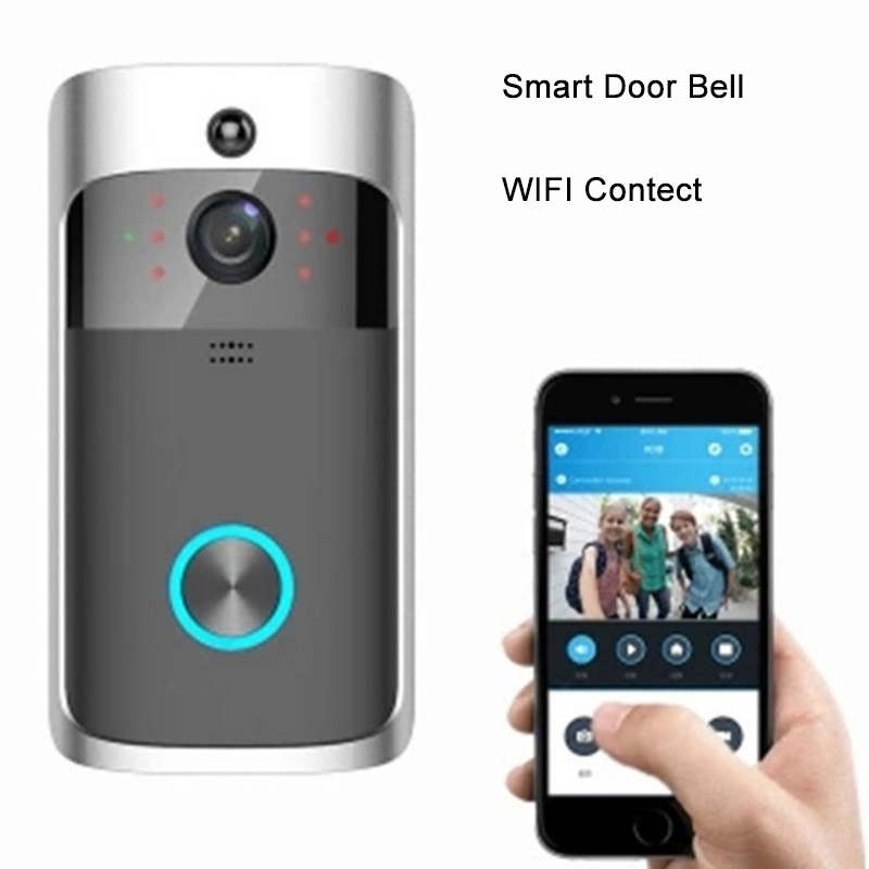 Smart Wireless Doorbell Digital Cat Eye Doorbell With Camera Video Doorbell Digital Peephole Wifi Door Video Peephole For Door